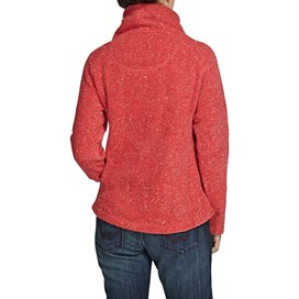Roskilde Funnel Neck Knitted Fleece Top Foxberry