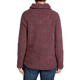 Roskilde Funnel Neck Knitted Fleece Top Boysenberry