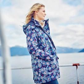 Gilda Waterproof Hooded Jacket Dark Navy