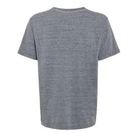 Sinker Marl Graphic Print T-Shirt Ebony Marl