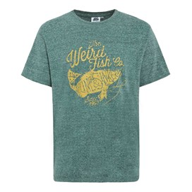 Sinker Marl Graphic Print T-Shirt Forest Green Marl