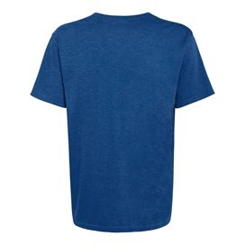 Bones Embroidered Logo Classic Plain T-Shirt Electric Blue Marl