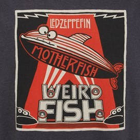 Motherfish Printed Artist T-Shirt Ebony Marl
