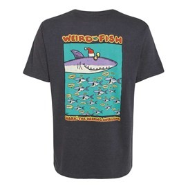 Shark the Herring Printed Artist T-Shirt Ebony Marl