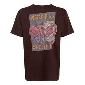 Shelfie Printed Artist T-Shirt Conker Marl