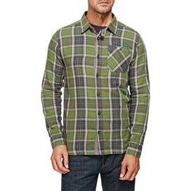 Crusader Check Long Sleeve Shirt Cactus Green