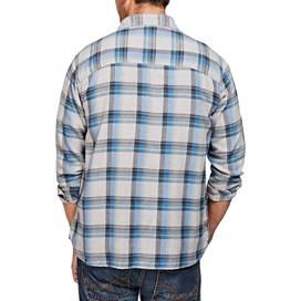 Spectre Herringbone Check Long Sleeve Shirt Ebony