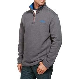 Hail Plain 1/4 Zip Embroidered Sweatshirt Ebony