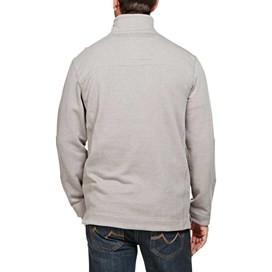 Hail Plain 1/4 Zip Embroidered Sweatshirt Frost Grey