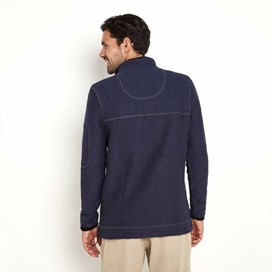 Parkway 1/4 Zip Deluxe Tech Mac Macaroni Sweatshirt Dark Navy