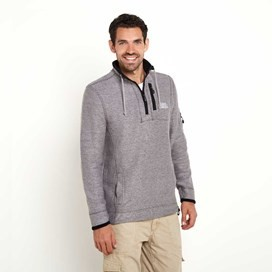 Parkway 1/4 Zip Deluxe Tech Mac Macaroni Sweatshirt Frost Grey