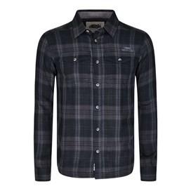 Alfie Check Long Sleeve Shirt Ebony