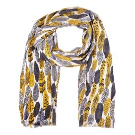 Alverton All Over Print Soft Handle Scarf Pebble