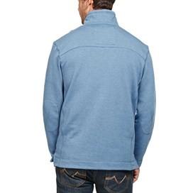 Hail Plain 1/4 Zip Embroidered Sweatshirt Airforce Blue