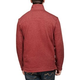 Hail Plain 1/4 Zip Embroidered Sweatshirt Conker