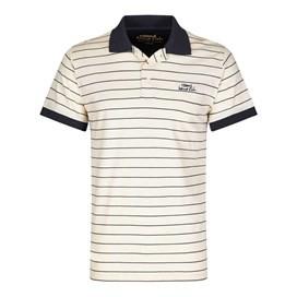 Aerotech Thin Stripe Jersey Polo Shirt Cloud Cream