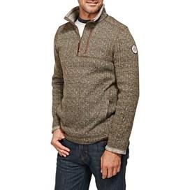 State 1/4 Zip Tech Soft Knit Fleece Sweatshirt Olive Night