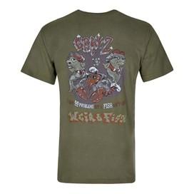 Cray Z Printed Artist T-Shirt Olive Night