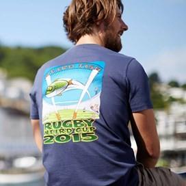 Rugby World Cup Printed Artist T-Shirt Dark Navy
