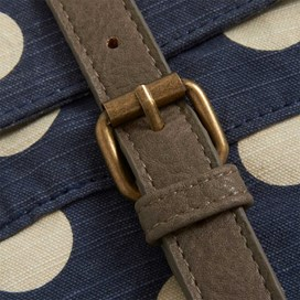 Samla Classic Patterned Canvas Cross Body Bag Dark Navy