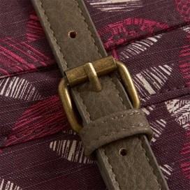 Samla Classic Patterned Canvas Cross Body Bag Boysenberry