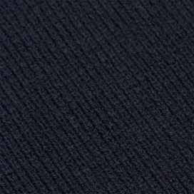 Cranning Double Layer Soft Knitted Beanie Hat & Scarf Set Dark Navy