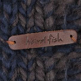 Hellar Hand Knitted Boy's Soft Chunky Bobble Hat Dark Navy