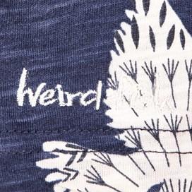 Ella 3/4 Sleeve Printed Slub Tunic Navy