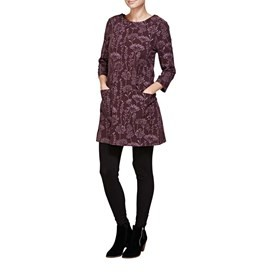 Folke Floral Printed Cord Tunic Top Lavender