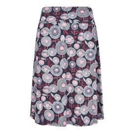 Malmo Printed A-Line Mid Length Jersey Skirt Ink
