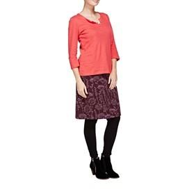 Kilma Printed Cord A-Line Mid Length Skirt Lavender