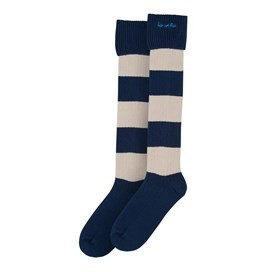 Liberec Long Striped Rugby Socks Midnight
