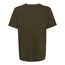 Winterscape Jersey Graphic Print T-Shirt Olive Night