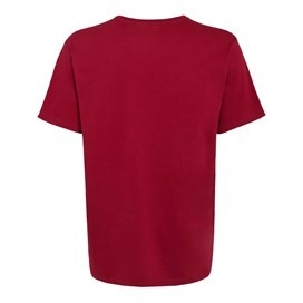 Bones Embroidered Logo Classic Plain T-Shirt Jester Red