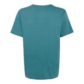 Bones Embroidered Logo Classic Plain T-Shirt Adriatic Blue