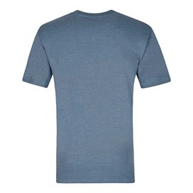 Bones Embroidered Logo Classic Plain T-Shirt Cadet Blue Marl