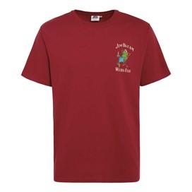 Jim Bream Printed Artist T-Shirt Jester Red