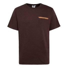 Shark the Herring Printed Artist T-Shirt Conker Marl