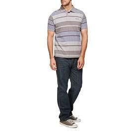 Galaxy Striped Polo Shirt Frost Grey