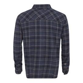 Skynight Check Brushed Long Sleeve Shirt Night Shadow Blue