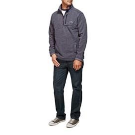 Status Plain 1/4 Zip Tech Soft Knit Fleece Sweatshirt Rich Navy