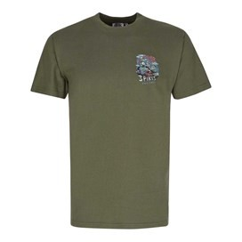 Pikes Challenge Printed Artist T-Shirt Olive Night