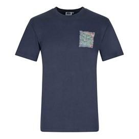 Hake District Printed Artist T-Shirt Dark Navy