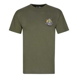Lock Stock Printed Artist T-Shirt Olive Night