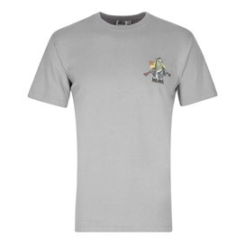 Lock Stock Printed Artist T-Shirt Frost Grey