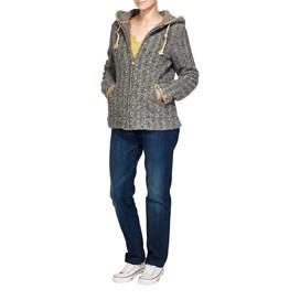 Valby Zipped Wool Blend Hooded Fleece Soot