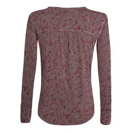 Cambray Long Sleeve Printed T-Shirt Raisin