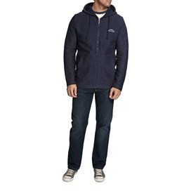 Beacon Zipped Hooded Macaroni Sweatshirt Dark Navy