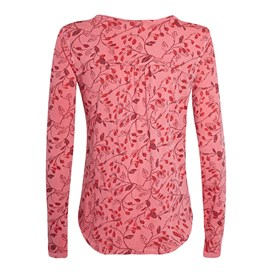 Cambray Long Sleeve Printed T-Shirt Rhubarb