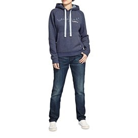 Twilight Graphic Print Hoody Navy Blue